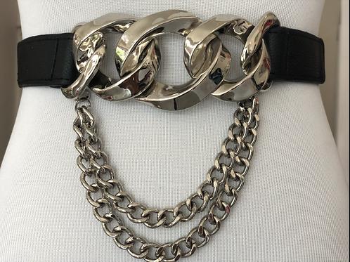 Chain Silver elastic Belt