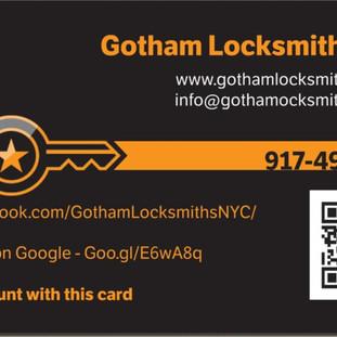 Gotham Locksmiths Business Card