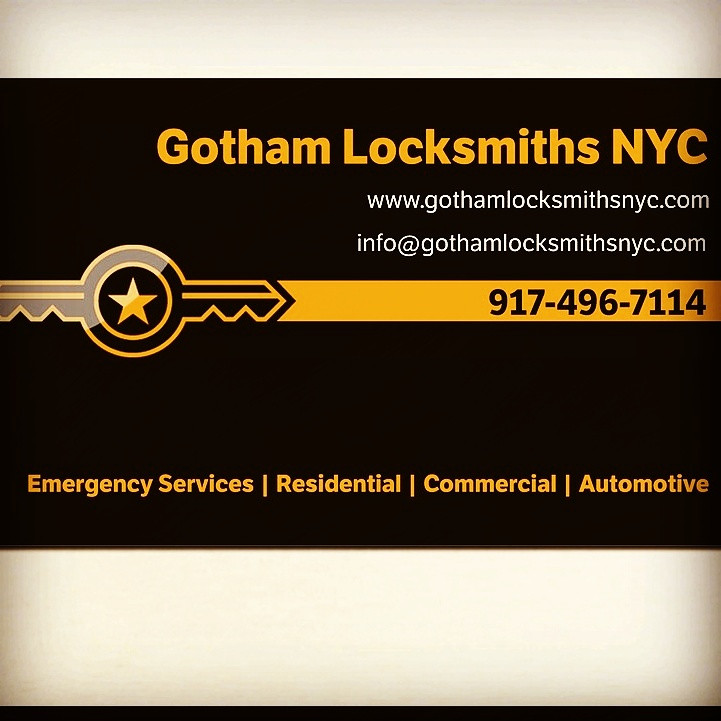 Business Card | 917-496-7114 Gotham Locksmiths | Locksmith ...