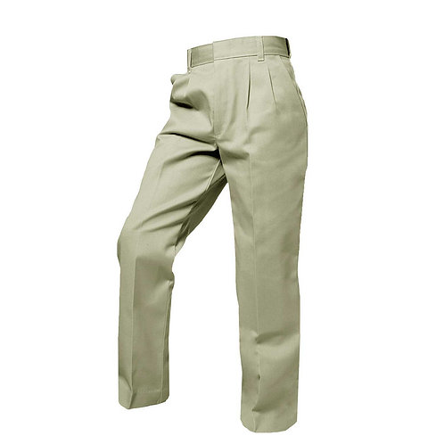 Grace Khaki Pleated-Pants