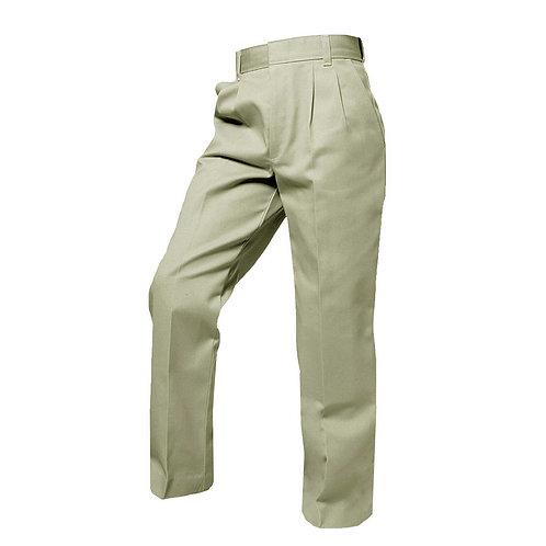 Boy's Khaki Pleated Pants