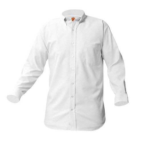 Menard White Oxford Long Sleeve Shirt