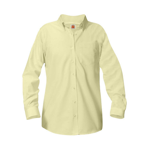 Girls Oxford Long-Sleeve Blouse