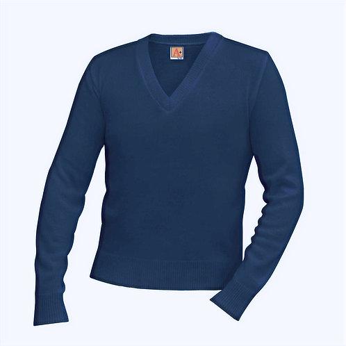 Menard V-Neck Long Sleeve Pullover Sweater