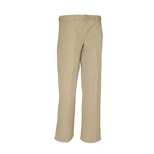 Boy's Khaki Flat Front Pant