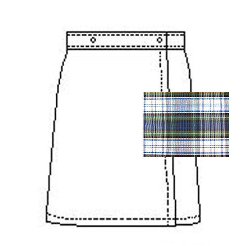 Grace Plaid Skort (With Front and Back Flap)
