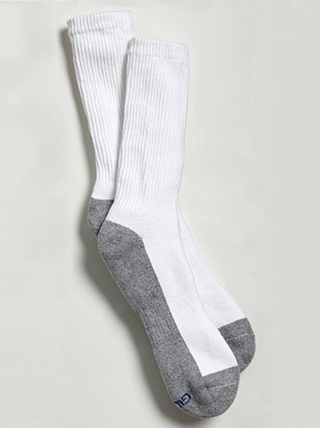 White Crew Socks 6PK