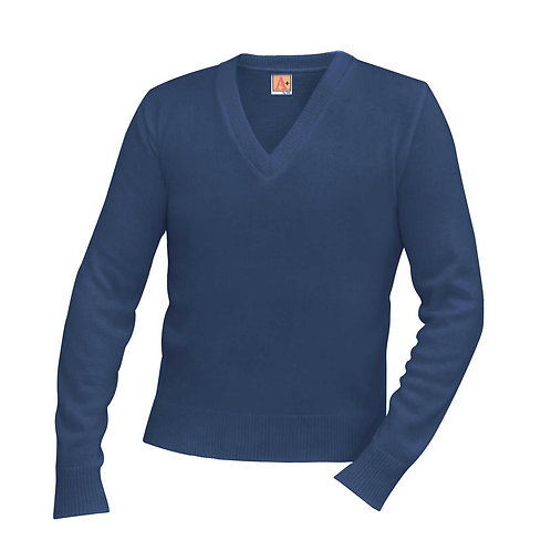 OLPS V-Neck Long Sleeve Pullover Sweater