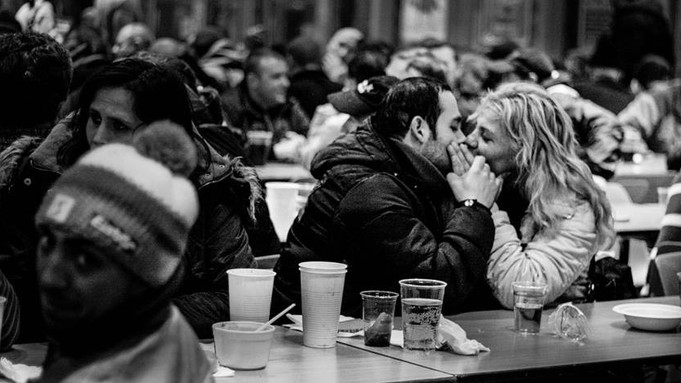 They found love in a homeless place
