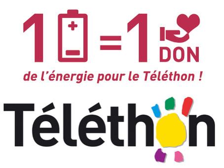 1 pile, 1 don = de l'énergie pour le Téléthon