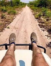Remote African Safari, Zambia, Explore Africa, Remote Travel, Person, Legs, Road, Dirt Road, Southern Zambia