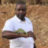 Mr Jim Katengu shows off some road side