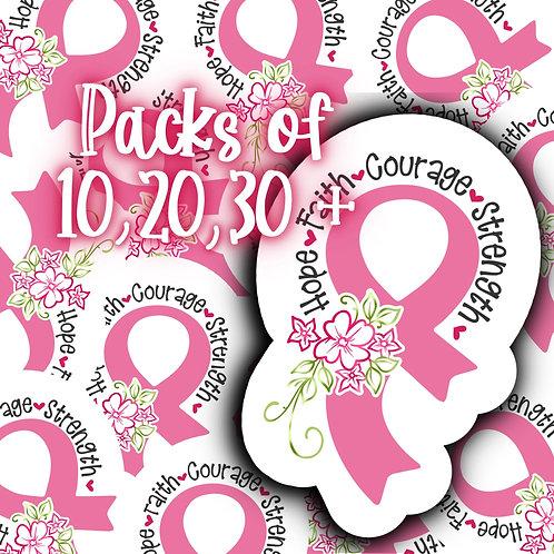 Breast Cancer Awareness Pink Ribbon Sticker