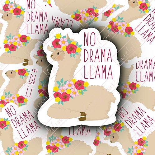 No Drama Llama-Sticker
