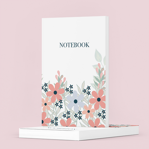 Floral College Ruled Notebook - The Lovely Planner Notebook