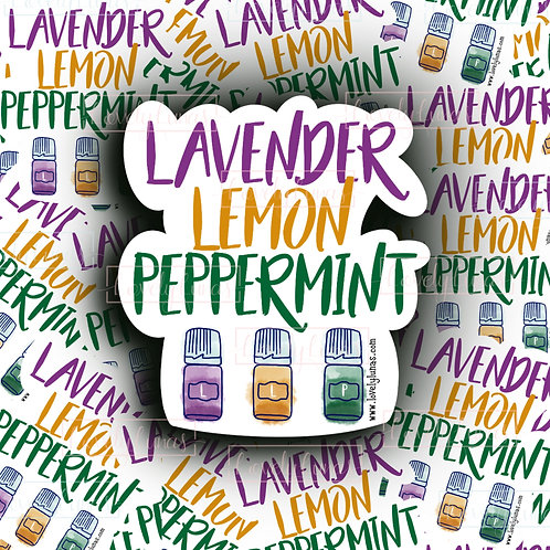 Lavender, Lemon, Peppermint-Sticker