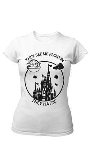 Magic Kingdom floating Baby Yoda the Child - Star Wars Park Shirt