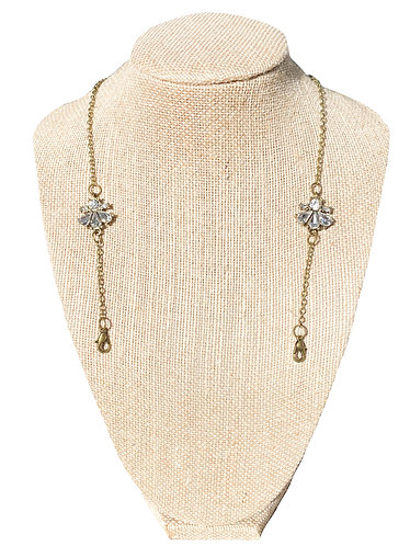 Vintage Crystal Mask Chain with matching earrings