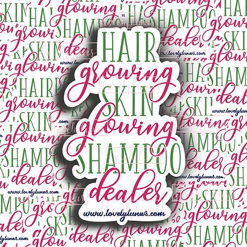 Hair growing, Skin glowing, Shampoo dealer-Sticker