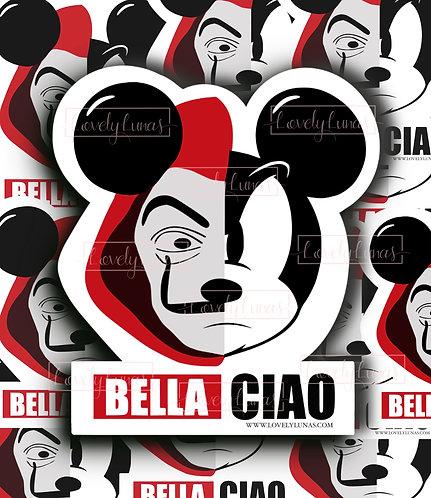 Mickey Mouse Bella Ciao Sticker