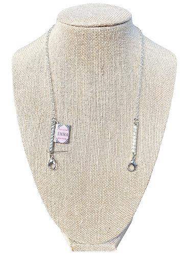 Jane Austen Book Charm Mask Chain