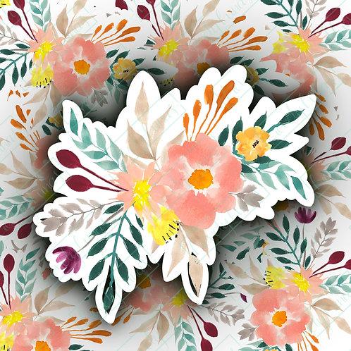 Watercolor flowers-Sticker
