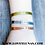 Thumbnail: Tri Color Custom Stamped Coordinate Cuff Bracelets - Adjustable Stacking Cuff Ba