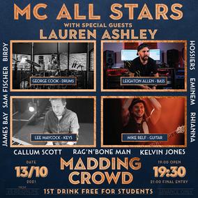MC Allstars 13th October 2021 Students get first drink free