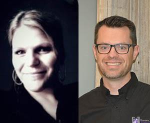 Beth Klepper and Adam Sinclair