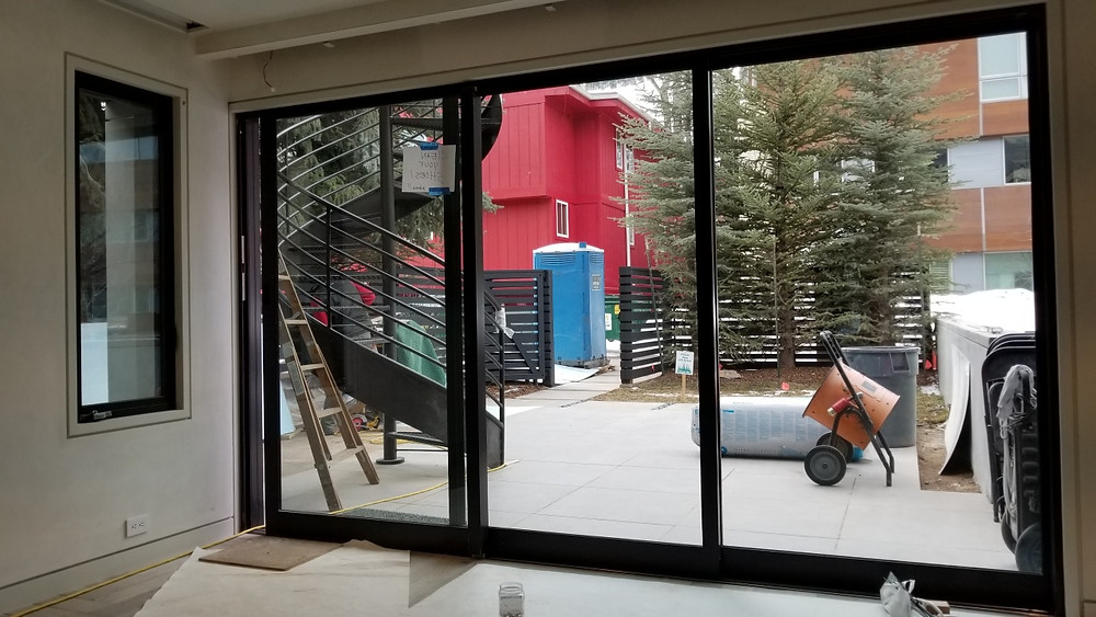 Multislide all aluminum door provided by Mountain View Window & Door
