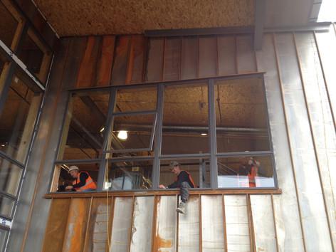 Andersen windows installation at Pearl Izumi
