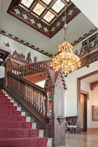 Gothic Wood Staircase, Naples, FL