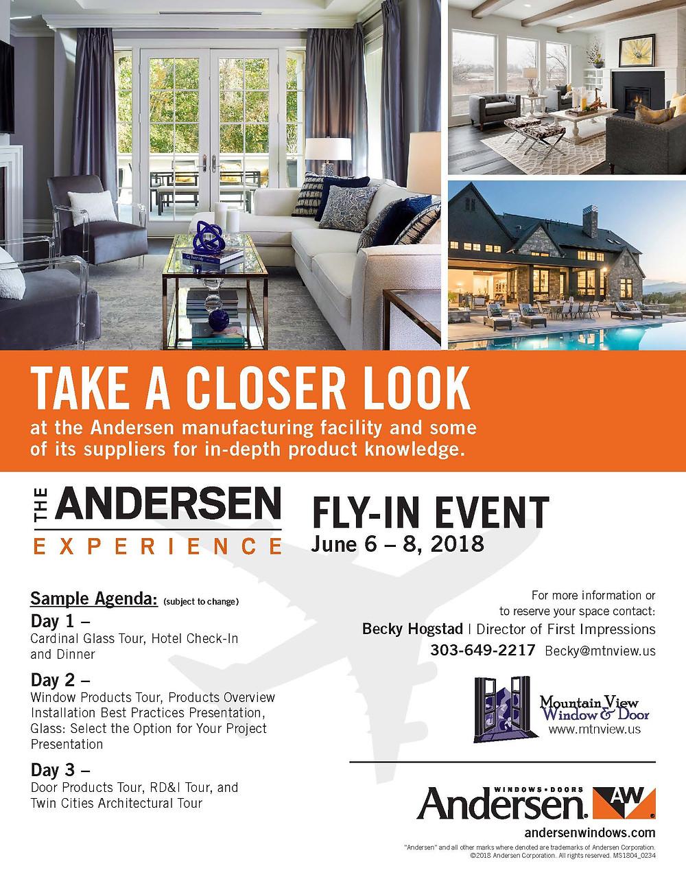 2018 Andersen Fly-Back Agenda
