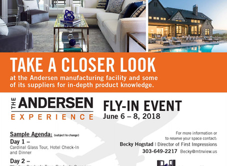 It's Time for the Andersen  Fly-Back!