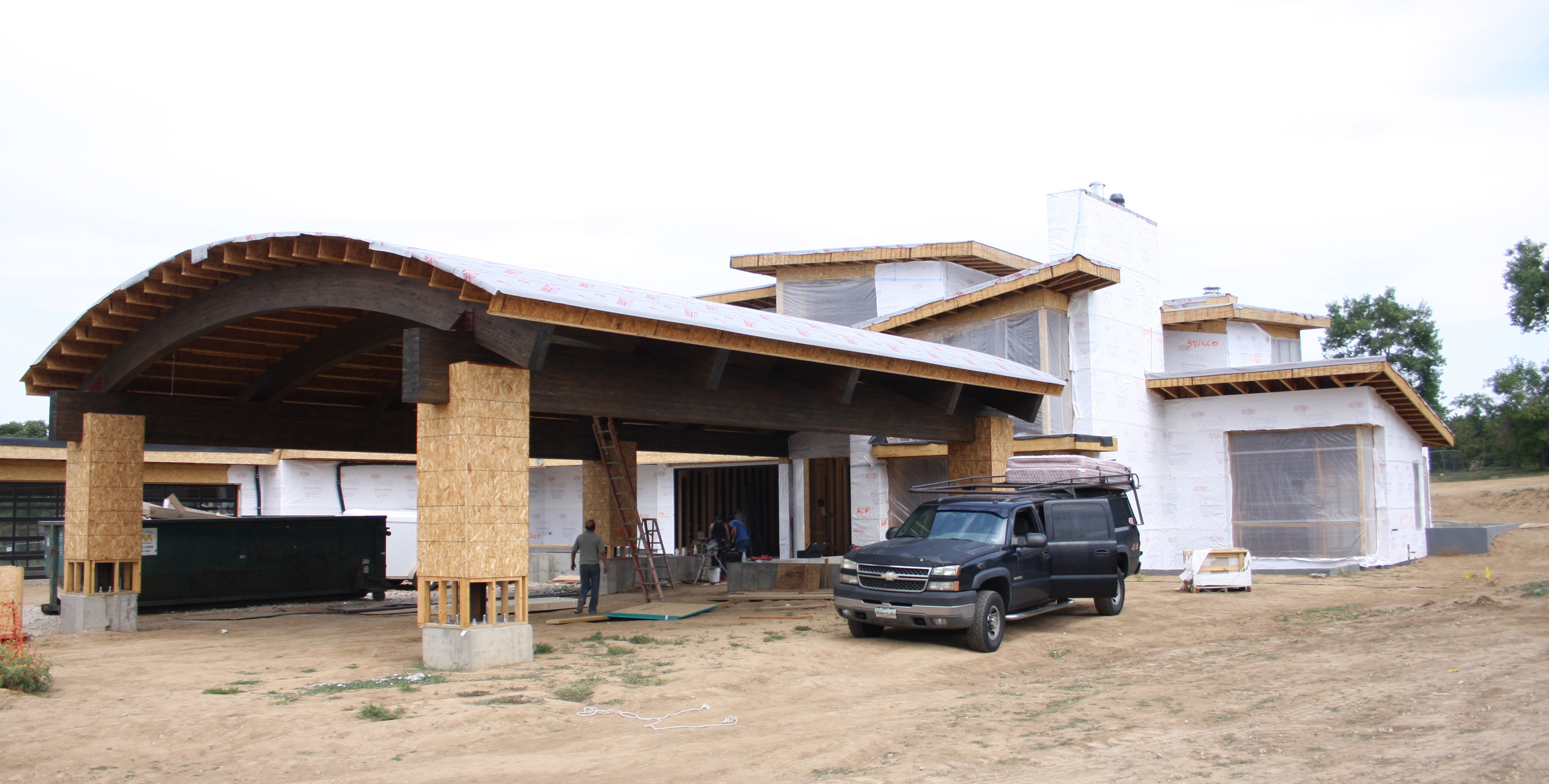 Front view of home will all window and door opening