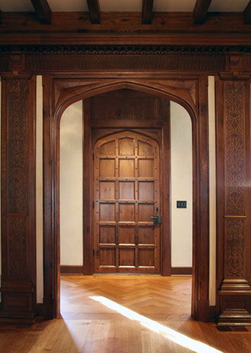 Jacobean Transitional Wood Door, Greenville, SC