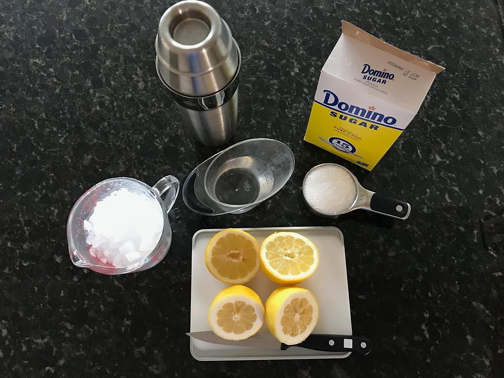 Lemon Shake-Up Ingredients