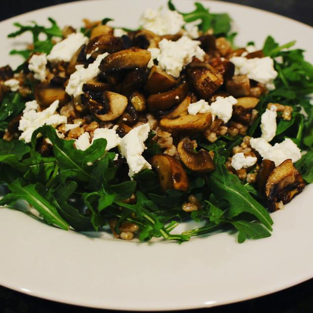 Mushroom Farro Salad