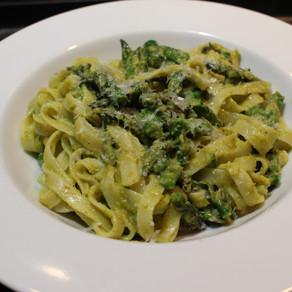 Asparagus Fettuccine