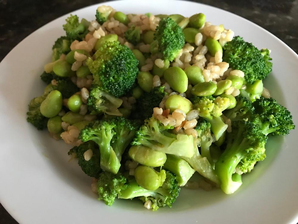 Broccoli and Edamame Bowl