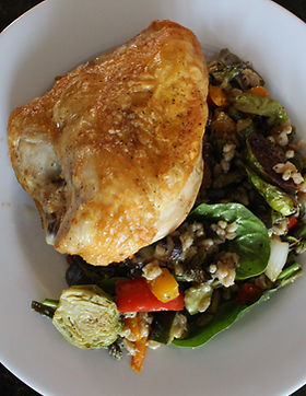 Roasted Chicken Breast with Vegetable Quinoa