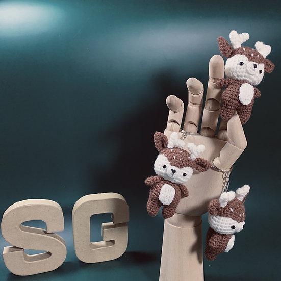 Hand Crocheted Small Animal Keyring -
