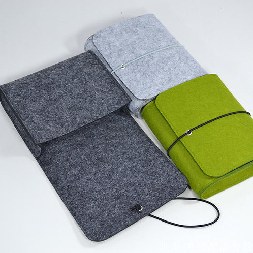 Key To Success Felt Pouch for Cables (Dark Grey)