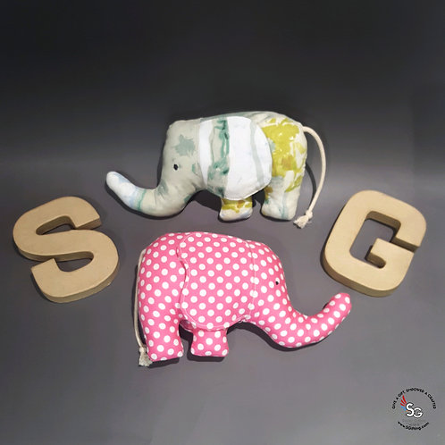 Handsewn Elephant Small Plushies