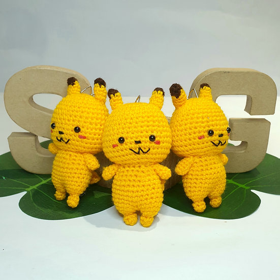 Hand Crocheted Pikachu Doll
