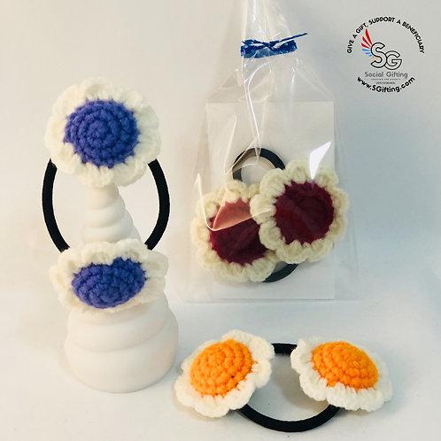 Crochet Flowers Hair Tie