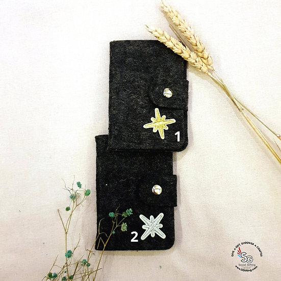 Felt Card Case with 24 slots (dark grey)