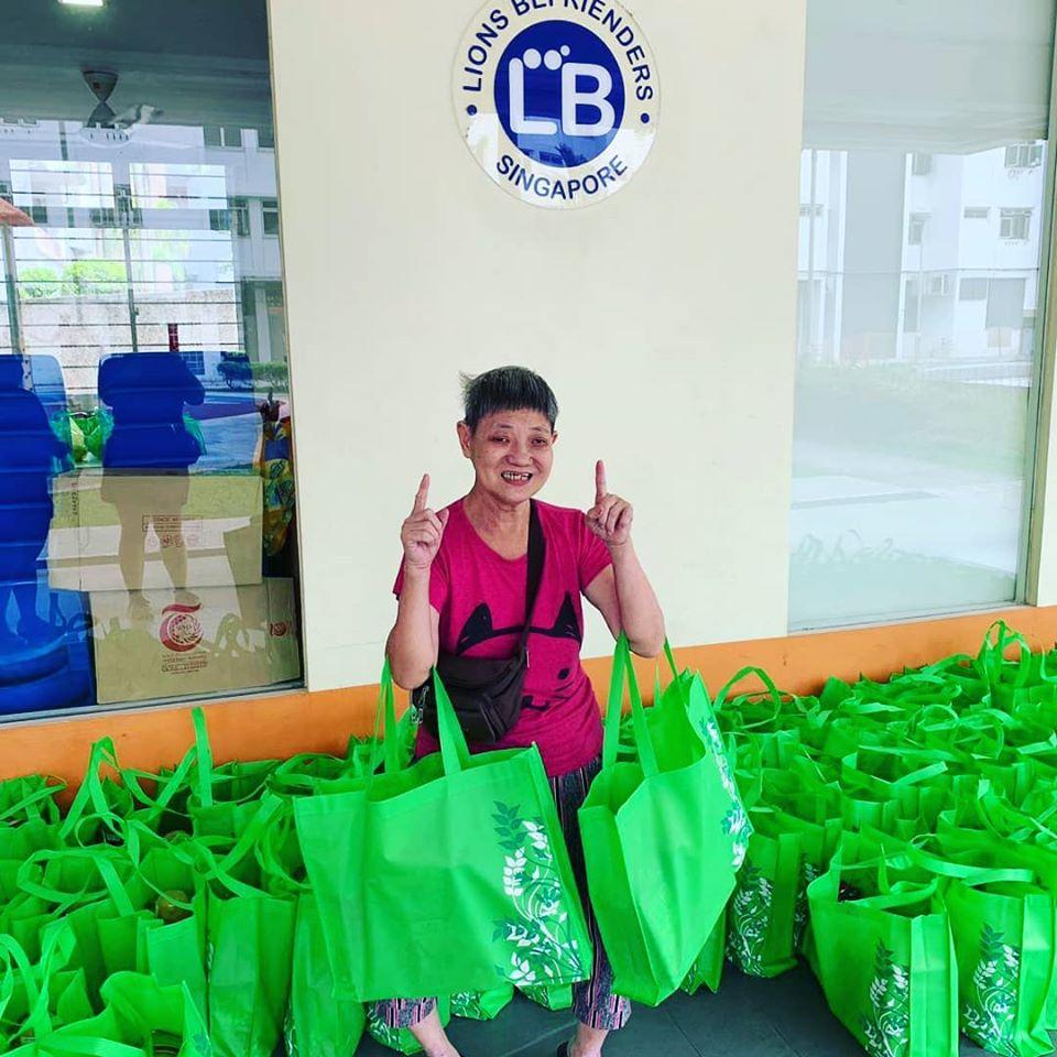 300 ration packs for residents at LB Ghim Moh