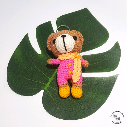 Hand Crocheted Bear with Scarf