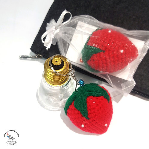 Hand Crochet Strawberry Keychain (Big)